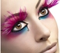 Pink Feather Plume Eyelashes (24254)