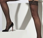 Sheer Black Lace Hold Ups (21429)