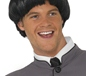 Short Bowl 60's Style Wig Black (42012)