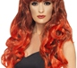 Adult Black & Red Siren Wig (42267)