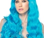 Adult Neon Star Blue Wig (A1979B)