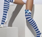Striped Thigh High Stockings (42712)
