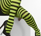 Striped Tights Green And Black (42715)