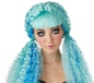 Turquoise Crimped Doll Wig (70729)