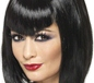 Vamp Wig Black Short with Fringe (32067)