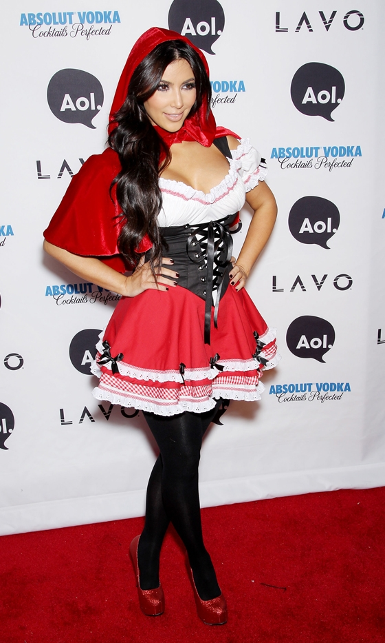 Kim Kardashian Red Riding Hood Fancy Dress