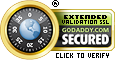Secured by goDaddy Extended Validation SSL