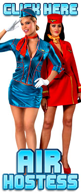 click here for Ladies Air Hostess costumes